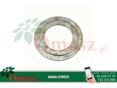 Pierścień metalowy kosiarki rotacyjnej Famarol