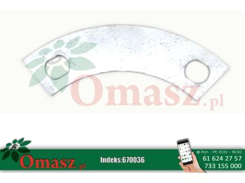 Podkładka zabezpieczająca odginana pierścienia dystansowego wysokiego cięcia bębna tnącego kosiarki rotacyjnej Famarol