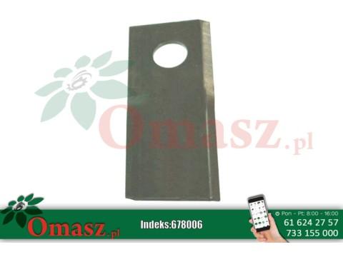 Nóż kosiarki rotacyjnej Claas lewy 115x47x4 fi19mm