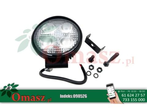 Lampa robocza 4 LED okrągła 12W 2800Lm