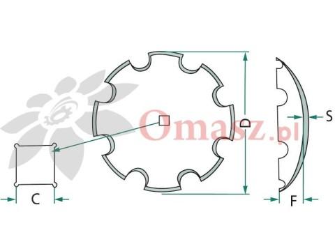 Talerz brony talerzowej uzębiony 610 Talerzówka *41