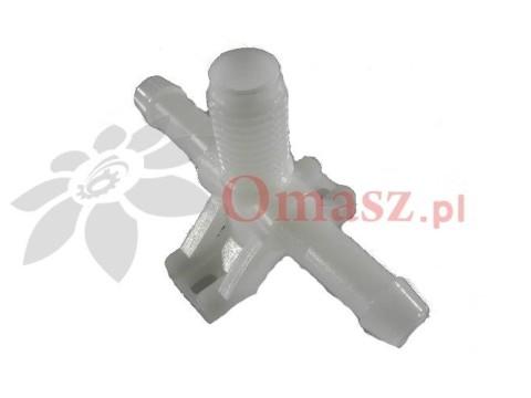 Trójnik opryskiwacza obrotowy plastikowy niekompletny 240028 Korpus rozpylacza przelotowy
