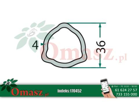 170452 Rura przekaźnika 3 wypusty 36*4 omasz.pl