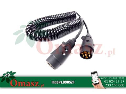 Przewód elektryczny spiralny 7-PIN 12V 4,5m