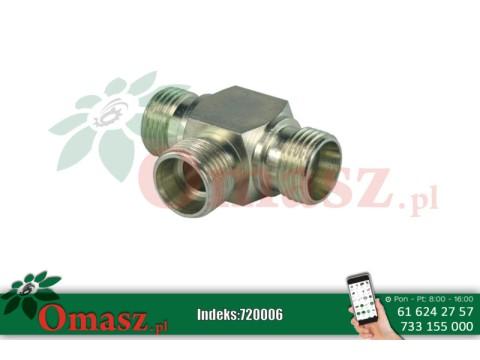 Złącze hydrauliczne trójnik BBB 3*22