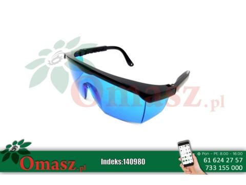 Okulary plastikowe niebieskie