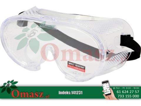 Okulary plastikowe z gumką pcv