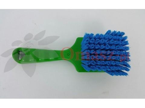 Szczotka doj.gum strz. zielono-niebieska z krótką rączką Alfa Milk