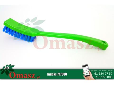 Szczotka do mycia zielono-niebieska z długą rączką Alfa Milk