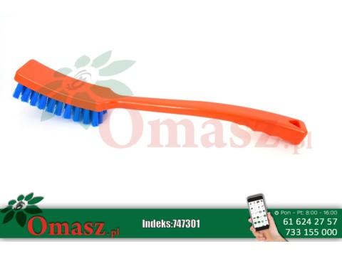 Szczotka do mycia pomarańczowo-niebieska z długą rączką Delaval