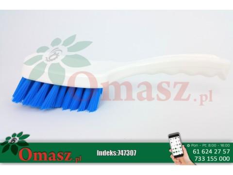 Szczotka do mycia biało-niebieska z krótką rączką Delaval