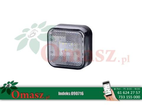 Lampa obrysowa LED kwadratowa, biała LD096
