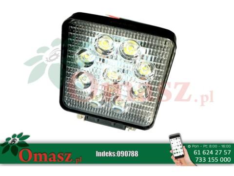 Lampa robocza LED kwadratowa 1500Lm, 9 led