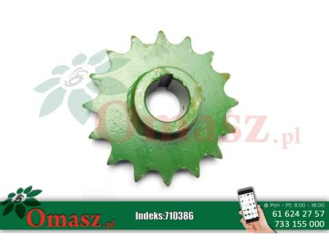 710386 Koło łańcuchowe rozrzutnika, Z-16, skok 1 cal, gwint 35mm omasz.pl