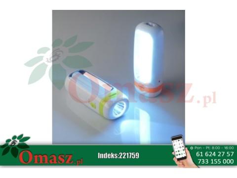 Latarka ładowalna 1W+10SMD LED