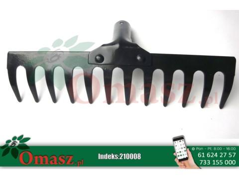 Grabie metalowe nie oprawione 12 zębów