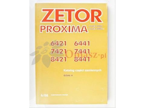 Katalog części Zetor 6421-8441 PROXIMA