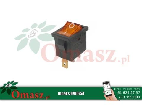 Włącznik mini 12V15A podświetlenie pomarańczowe