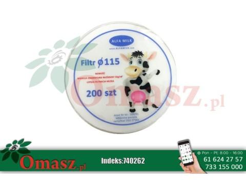 Filtry krążkowe Alfa Milk fi 115 200szt.
