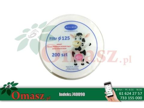 Filtry krążkowe Alfa Milk fi 125 200szt.