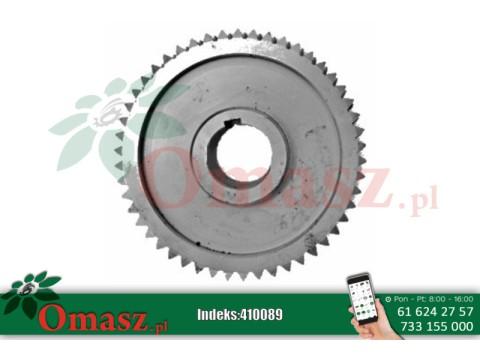 Koło ślimakowe przekładni z pierścieniem mosiężnym KOS, otwór 40mm, średnica 160mm, Z-50