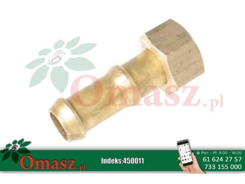 Złącze mosiężne końcówki tłoczącej kolektora pompy opryskiwacza *20 BS-19