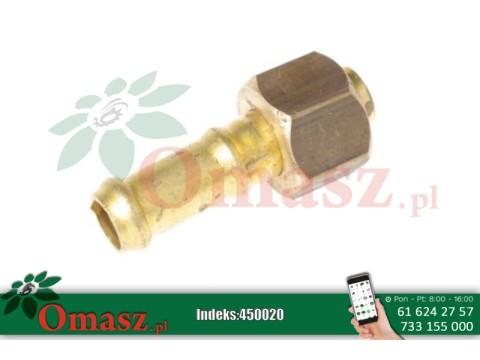 Złącze pompy proste mosięźne o średnicy 13mm, fi 12.5