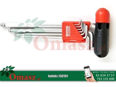 Komplet 9 kluczy imbusowych z kulką długie Modeco